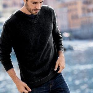 Peruvian Connection | V-neck Pima Cotton Sweater